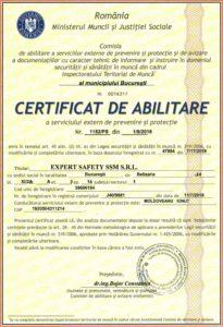 Certificat abilitare